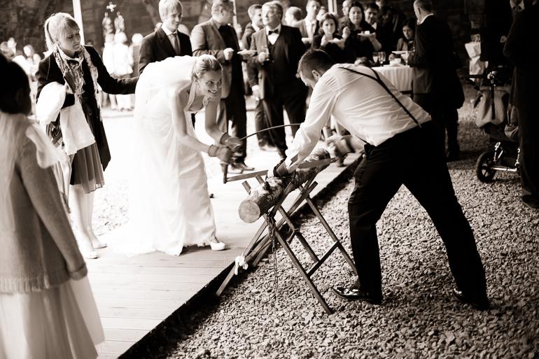 Hochzeitsfotograf voll im Einsatz