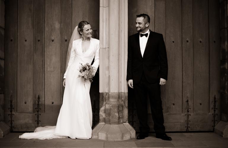 Paarfotos an der Hochzeit