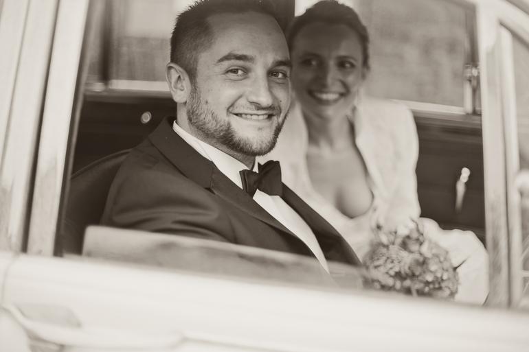 Hochzeitsshooting im Oldtimer