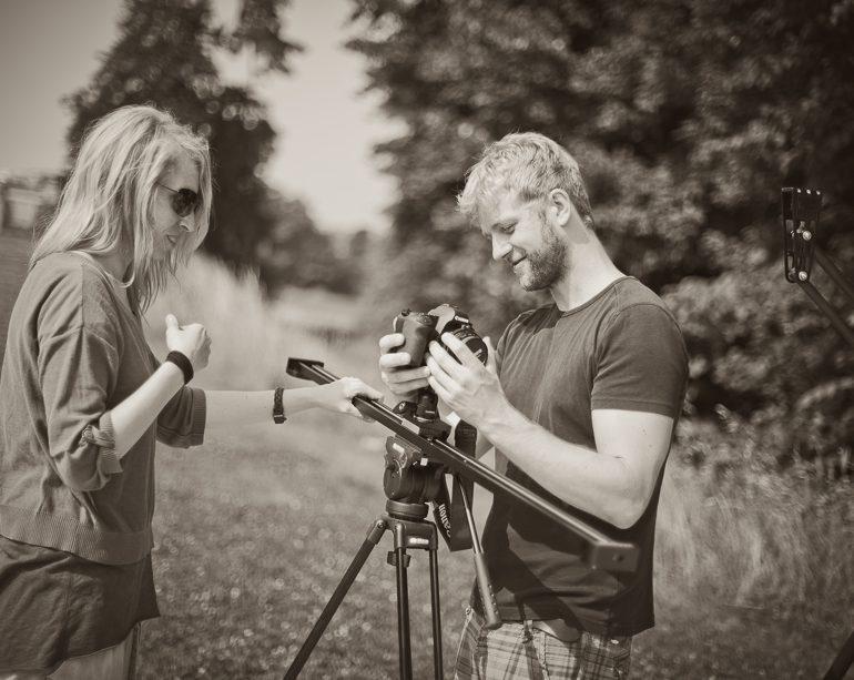 Videografen Mel sen und Frederic