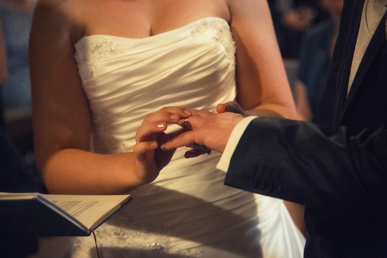 kirchliche Hochzeit Ringübergabe