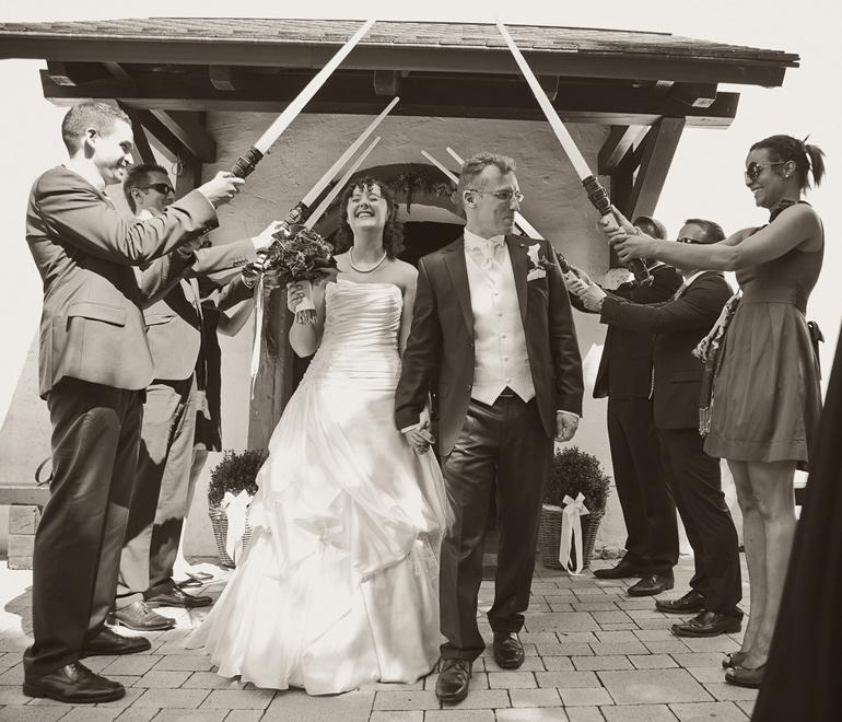 Star Wars Hochzeit vor der Kirche