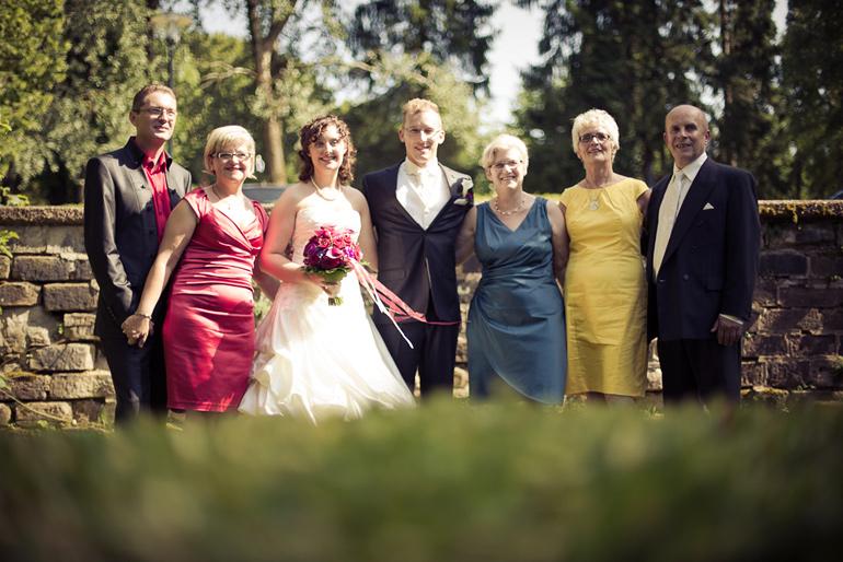 Hochzeitsfotos die Familie
