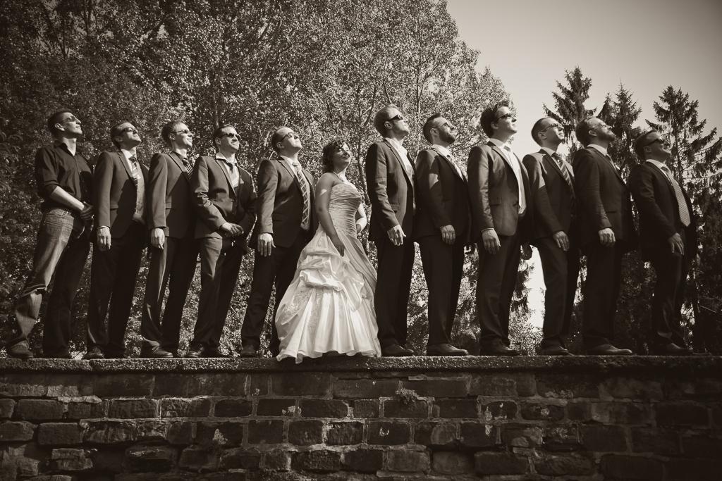 Braut und Trauzeugen Hochzeitsreportage