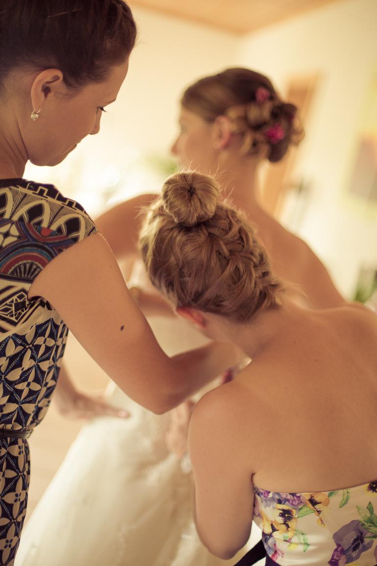Hochzeitsfotograf bei den Mädels