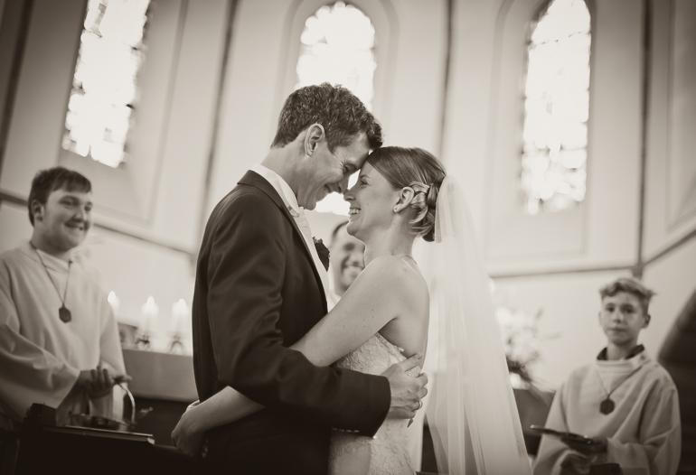 Das Hochzeitspaar nach der Trauung