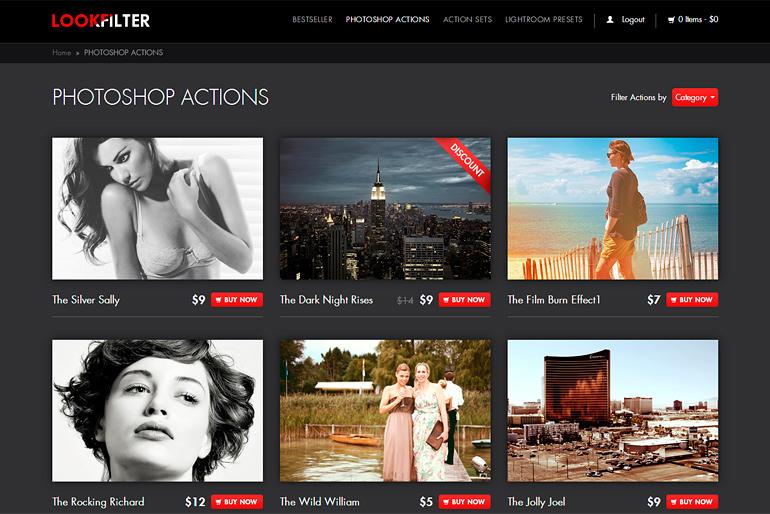 Screenshot: lookfilter.com Webseite