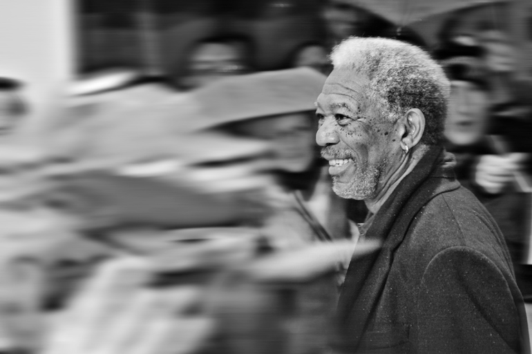 Morgan Freeman Portrait Shooting
